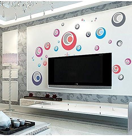 PVC Vinyl Wall Sticker Stylish Circles Pattern Theme Wall Decal  60 X 90 cm  Wall Stickers