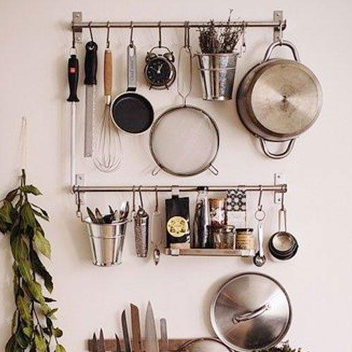 Wall Mount Pot Rack Hook Stainless Steel Kitchen Hang ...