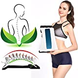 Back Stretcher Device - Lower Back Pain Relief, Lumbar Stretching Treatment,Spinal Stenosis - Posture Corrector - Back Support for Office Chair