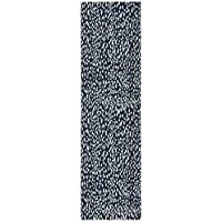 Safavieh Marbella Collection MRB657B Navy Blue and Ivory Runner (23 x 8)