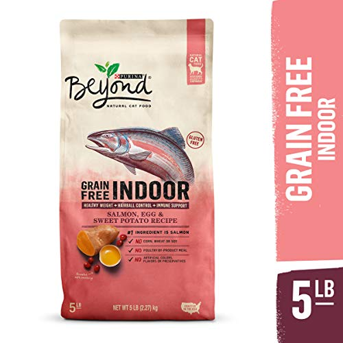 Purina Beyond Indoor, Grain Free, Natural Dry Cat Food, Grain Free Salmon, Egg & Sweet Potato Recipe - 5 lb. Bag