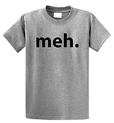 Comical Shirt Men's Meh. Funny Gamer TV Homer Shirt T-Shirt