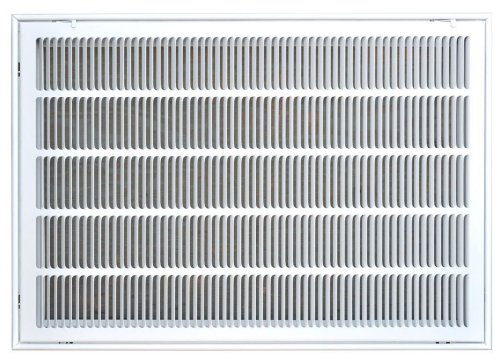 Speedi-Grille SG-2030 FG 20-Inch by 30-Inch White Return Air Vent Filter  Grille with Fixed Blades
