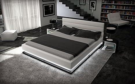 cama completa Luz de la luna con iluminación+Colchón+somier ...