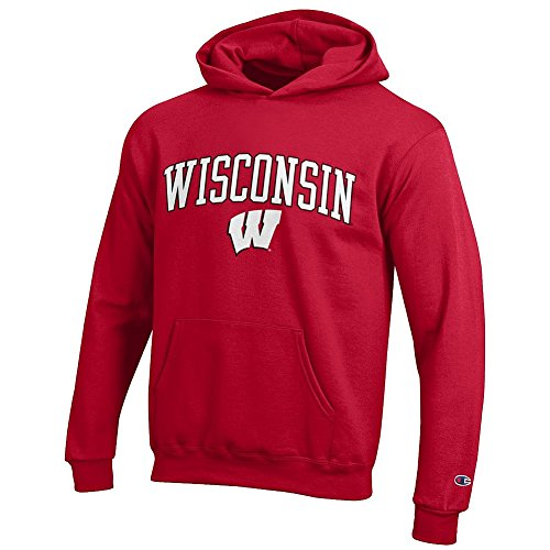 nsin Badgers Kids Hoodie Sweatshirt Cardinal - S ()