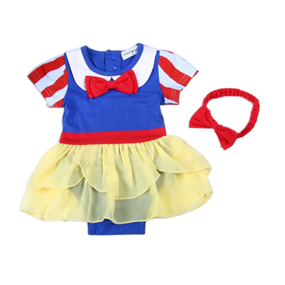 0e04dbdab FYMNSI Newborn Infant Baby Girl Snow White Costume Outfit Fairy Tale ...