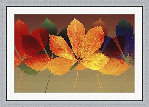 Leaf Dance II by Robert Mertens Framed Art Print Wall Picture, Flat Silver Frame, 44 x 32 inches Robert Mertens Leaf