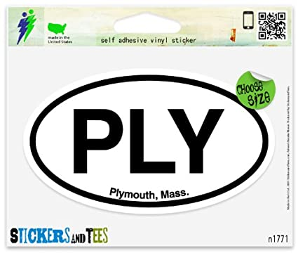 Boston Oval Vinyl Sticker Decal 5x3