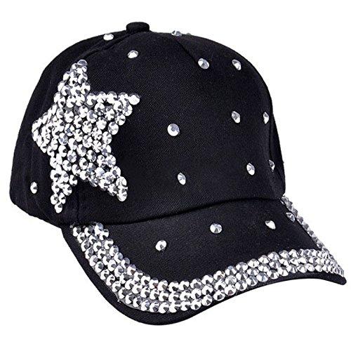 (Gbell Fashion! Girls Baseball Cap Rhinestone Star Hats Snapback Hat for Toddler Kids Boys Girls)