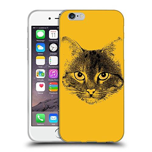GoGoMobile Coque de Protection TPU Silicone Case pour // Q07740602 Visage de chat 1 ambre // Apple iPhone 7