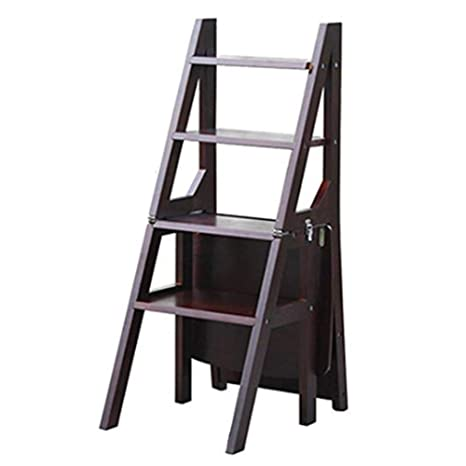 ZB Escalera Taburete Silla Plegable Multifunción Madera Maciza Plegable Doble Propósito Impermeable Escalera De 4 Escalones Soporte De Flores De Doble Uso 36 X 47 X 89 Cm A+ (Color : B) : Amazon.es: Hogar