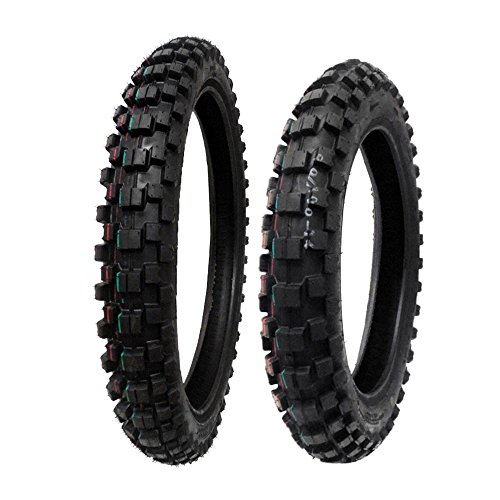 TIRE SET: Front 70/100-17 Rear 90/100-14 Dirt Bike Off Road by MMG
