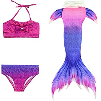 Multi Color Swimwear Set For Girls