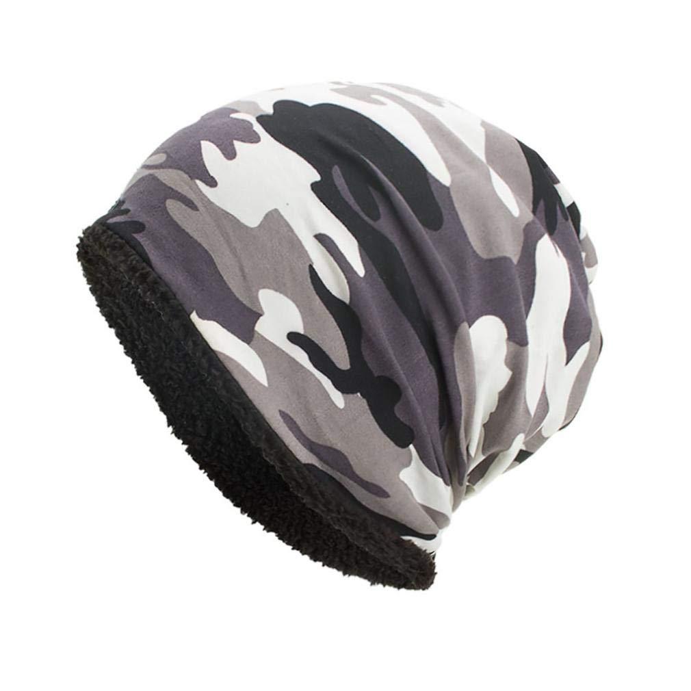 Vertily Cotton Camouflage Warm Men's Crochet Cool Ski Beanie Skull Hair Loss Hat FWSG-342