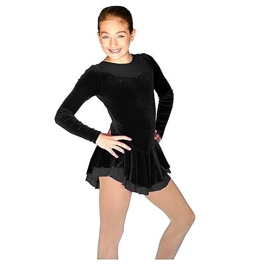 Amazon Chloenoel Little Girls Black Velvet Long Sleeve Skating