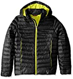 Spyder Girls Timeless Synthetic Down Jacket, Black/Acid, Medium