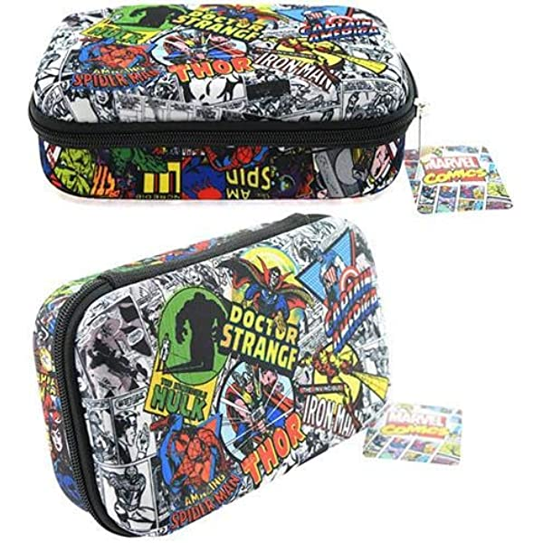Genuine Marvel Comics Retro Comic Strip Large Pencil Case Zipped Stationery