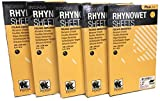 INDASA Rhynowet Abrasive Sheets - 1000,1200,1500,2000,2500 grit, 5.5 in x 9 in, (Pack of 5)