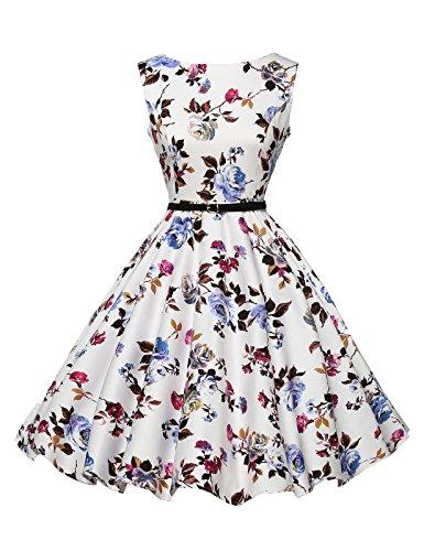 GRACE KARIN 50s Vintage Übergröße Rockabilly Kleid Partykleid ...