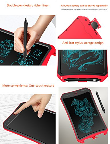 IGERESS Newest 8.5-inch LCD Writing Tablet with Cool Robot Element Design Electronic Writing Board for Kids and Adults Happy Drawing and Working Saving Papers by IGERESS (Image #3)