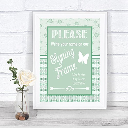 Amazoncom Winter Green Christmas Signing Frame Guestbook Message