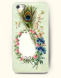 OOFIT iPhone 5 5s Case - Cute DšŠcor Flowers And Peacock Feather
