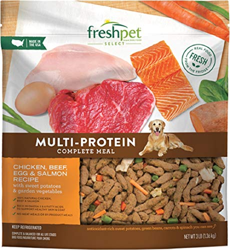 Freshpet Select Multi-Protein Dog Food Recipe, 3 Lb (Pack of 4)