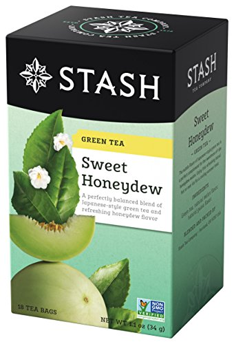 Green Tea Honey Sweet (Stash Tea Sweet Honeydew, 18 Count Teabags in Foil (Pack of 6) Individual Green Tea Bags for Use in Teapots Mugs or Cups, Brew Hot Tea or Iced Tea)
