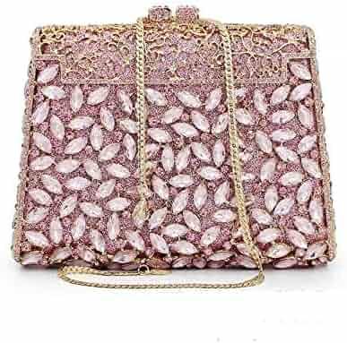 Auau-women Evening Bags Exquisite Leather Handbag Metal Hollow Designer Wedding Party Clutch Purse Women's Bags