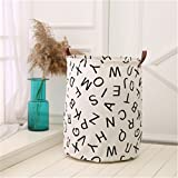 Haotfire Large Collapsible Laundry Hamper Bucket Waterproof Fabric Storage Basket Nursery Baby Laundry Basket For Kids Toys Clothes