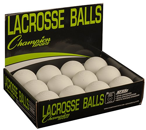 Champion Sports Official Lacrosse Balls-Pack of 12