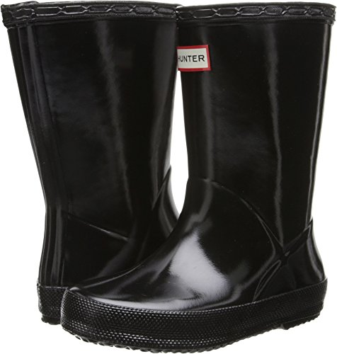 Toddler Black Hunter Boots (Hunter Kids' First Gloss (Toddler), Black, 8)