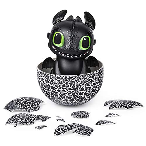 512m4zx%2BlML - Dreamworks Dragons, Hatching Toothless Interactive Baby Dragon with Sounds, for Kids Aged 5 & Up