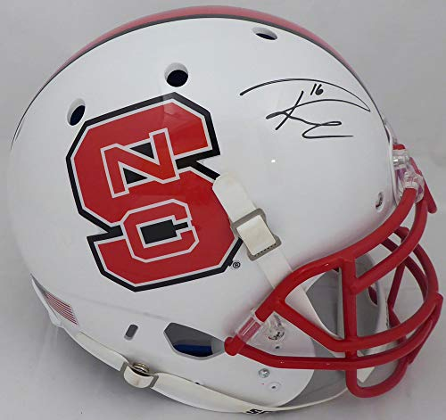 Russell Wilson Autographed White NC State Wolfpack Full Size Authentic Proline Helmet RW Holo Stock #145790 ()