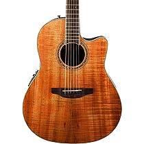 Ovation CS24P-FKOA Acoustic-Electric Guitar, Figured Koa