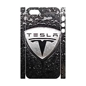 Generic Design Back Case Cover iphone5 5S 3D Cell Phone Case White Tesla Logo Ybzbl Plastic Cases