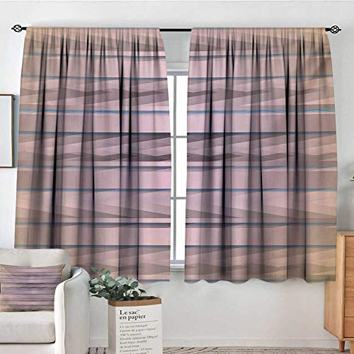 Modern Room Darkening Curtains Earth Toned Fractured Zig Zag Dimensions Horizontal Lines Flat Type Artwork Print Door Curtain Blackout 55