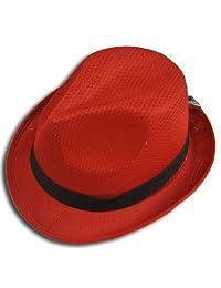 Fedora Hat Fashion Unisex Trilby Cap Summer Beach Sun Straw Panama