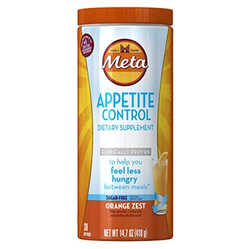 - Metamucil Appetite Control Weight Loss Supplements, Orange Zest Sugar Free Fiber Appetite Suppressant, 36 Doses