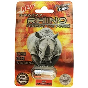 Rhino Krazzy 25K Platinum Fast Acting Long Lasting Male Enhancement Pill (5 Pack)