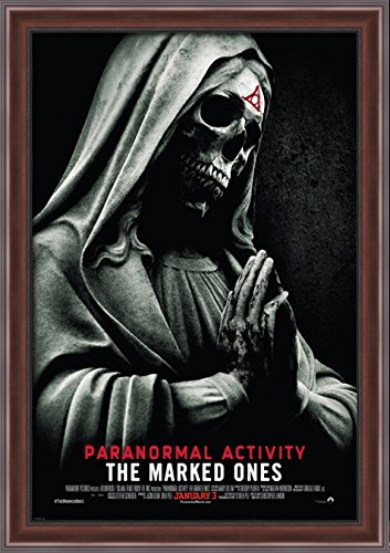 Paranormal Activity The Marked Ones 28x40 Large Walnut Ornate Wood Framed Canvas Movie Poster Art by ArtDirect