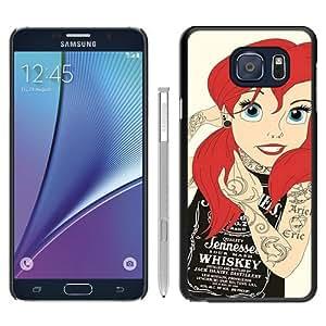 Hot Sale Samsung Galaxy Note 5 Case ,Tattoo Ariel Little Mermaid Black Samsung Galaxy Note 5 Cover Unique And Beautiful Designed Phone Case