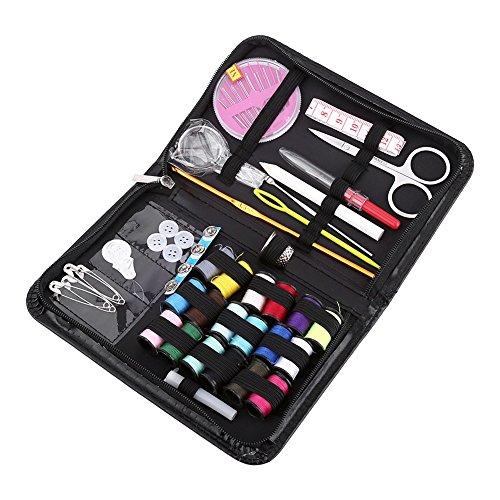 Yosoo 1* Kit de Costura con Hilo Aguja Cinta Cinta Métrica Tijeras Conjunto De Costura Uso De Viaje