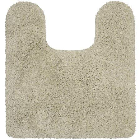 "Better Homes & Gardens Thick and Plush Nylon Bath Rug Collection, 20""x21.5"" Contour, Papyrus Beige from Maples Industries Inc."