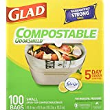 Glad 100% Compostable Bags, Lemon Scent, Small, 100 Bags