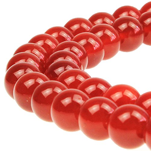 JARTC 7A Natural Darker Red Agate Gemstone Loose Beads Round 20mm Crystal Energy Stone Healing Power for Jewelry Making