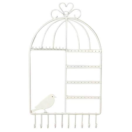 JJOnlineStore - Diseño Jaula de pájaro Pared Jewelry - Perchas ...