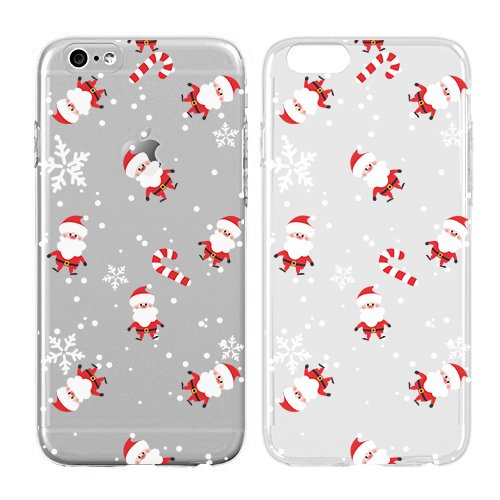 Case for Iphone 6/Iphone 6S-Cream Cookies-Christmas Gifts Santa Cute Candy Cane Snowflakes In Christmas-Clear Pattern Premium Ultra Slim Hard Plastic Cover Case