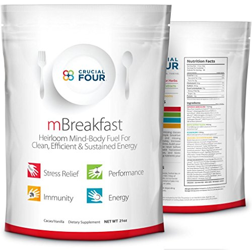 Crucial Four Superfood Organic Meal Replacement Shake- Great For Weight Loss, Gut Health, Immunity and Energy by Crucial Four