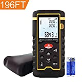 Hti-Xintai Laser Distance Meter, Handheld 196FT Laser Measuring of Distance, Area, Volume-Digital Laser Ruler with Mute Function- Portable and LCD Display with Bubble Level